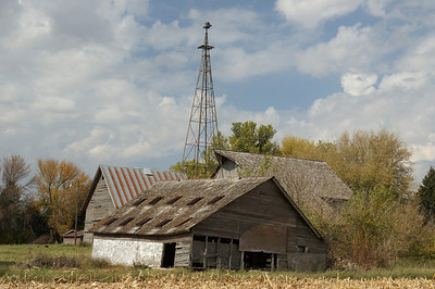 These buildings are not part of the family farm, but on a nearby farm.