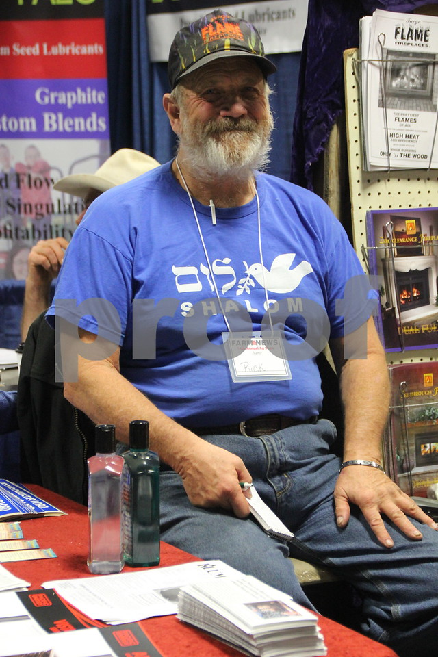 Seen here is: Rick Titus, one of many vendors on hand at the Farm News Ag show. On Wednesday, December 2, and Thursday, December 3, 2015, The Farm News Ag Show was held at the Iowa Central Community College East campus, in Fort Dodge.
