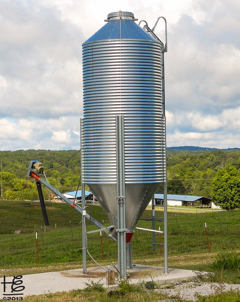 silo on farm