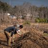 David educating Tim at compost pile