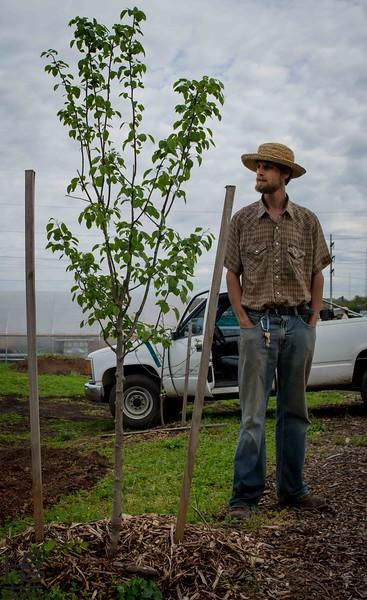 Chris Theal at farm