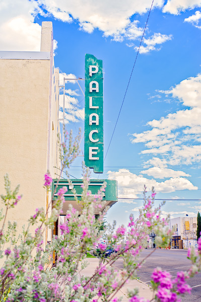 The Palace Theater sign in Marfa, TX.