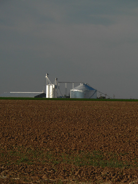 Grain elevators in West Texas.