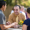 Ahmad Boura (VPUA) talks with Tower Society guests that enjoy the Farm to Table event at the Warrens Reception Center on Saturday, October 7, 2017 in Chico, Calif.<br /> (Jason Halley/University Photographer)