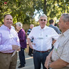 Robbi Stivers (VPBF), Doug Guerrero (left to right) and Tower Society guests enjoy the Farm to Table event at the Warrens Reception Center on Saturday, October 7, 2017 in Chico, Calif.<br /> (Jason Halley/University Photographer)