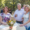Missy McArthur ('79), Bruce Webb, Jeanne Conroy (left to right) and Tower Society guests enjoy the Farm to Table event at the Warrens Reception Center on Saturday, October 7, 2017 in Chico, Calif.<br /> (Jason Halley/University Photographer)