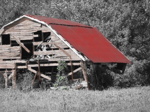 colorized Morgantown Barn