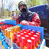 KRISTOPHER RADDER — BRATTLEBORO REFORMER<br /> People head to the Brattleboro Area Farmers' Market as it opens for the first time on Saturday, May 9, 2020, since the COVID-19 pandemic.