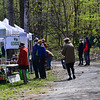 KRISTOPHER RADDER — BRATTLEBORO REFORMER<br /> People take a lap around the Brattleboro Area Farmers' Market, in Brattleboro, Vt., as they remain socially distanced as the market opens for the first time on Saturday, May 9, 2020, since the COVID-19 pandemic.