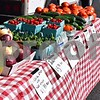 Produce from the Shady Tree Farm awaits customers at the Sycamore Farmers Market on June 6. The Sycamore Farmers Market is held from 3 to 7 p.m. Tuesdays through September, except July 4, at the parking lot at the corner of Somonauk and Elm streets. The farmers market will feature an average of 15 to 17 vendors.