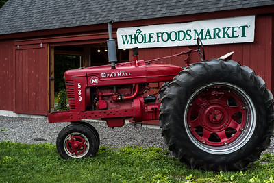 Whole Foods Market Sign with Tractor