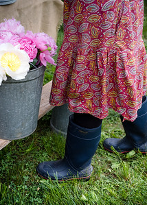 Flowers and Rainboots