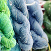 Skeins of yarn. Fiber Twist, 9/16/12.