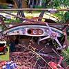 Old car remains at Berties place via Goombi