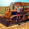 Keith on the Dundee dozer used for pushing bore drains etc. Bill & Judy Harris at Richmond. We went out there for Christmas & New Year in 1983/1984.