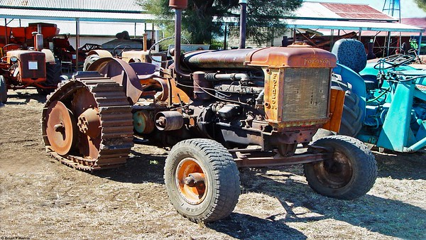Capella museum 2006. Fordson tractor with after market half track kit fitted. Ideal in Brigalow sucker counter to counter puntures.