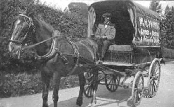 <font size=3><u> - Horse and Cart - W.H.Young, local carrier. </u></font> (BS0019)