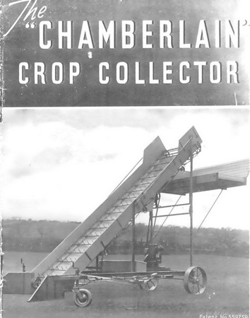 <font size=3><u> - The Crop Collector - </u></font> (BS0723)  Benson man Walter Chamberlain's invention - the Chamberlain Crop Collector..