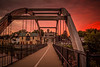 Jefferson Walk Bridge at Sunset 2017.
