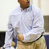 (Tuesday February 18th 2015 - Farmington High School - Farmington, MI - Athletic Gym) Hazel Park's Coach Brandon Barret reacts to a call Tuesday night. Photo by: Brian Sevald