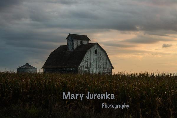 Barn Near Sunset in Boone County, Iowa