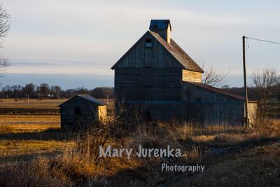 Story County Barn at Sunset
