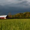 Threatening Sky Over Enochsburg Farm