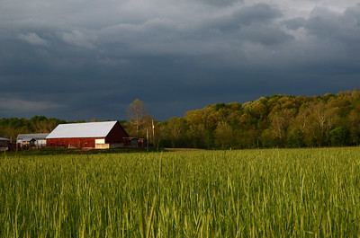 Threatening Sky Over Enochsburg Farm