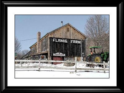 A Farm After A Snowstorm