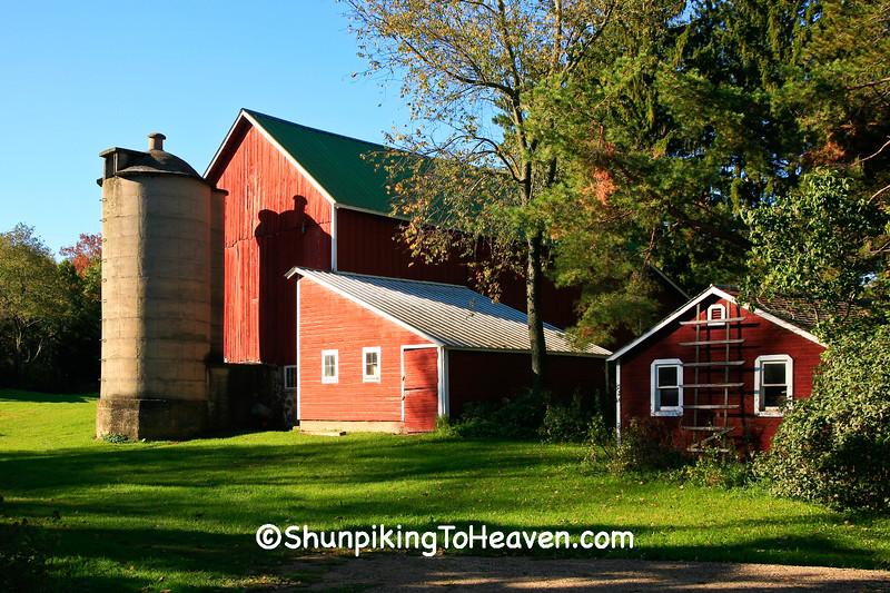 Red Farm Scene, Portage County, Wisconsin