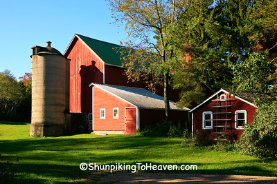 Red Farm Scene, Portage County, Wisconsin