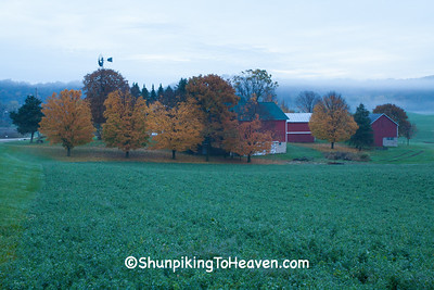 Dawn Farm Scene, Dane County, Wisconsin