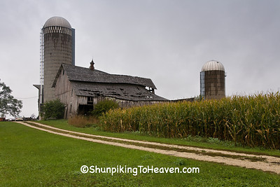 Farm Scene with Dilapidated Barn, Winona County, Minnesota