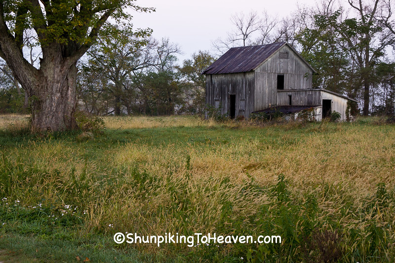 Small Gray Barn and Outbuildings, Grant County, Wisconsin