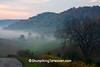 Foggy Autumn Morning Farm Scene, Richland County, Wisconsin