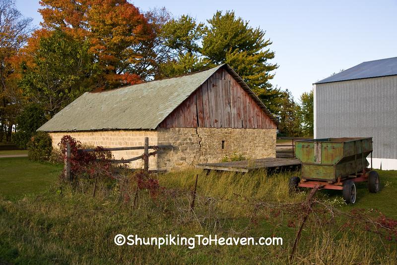 Autumn Farm Scene, Monroe County, Wisconsin