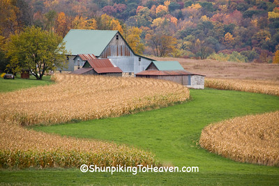 Autumn Farm Scene, Sauk County, Wisconsin