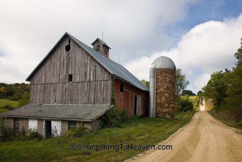 Farm Scene with Tile Silo, Richland County, Wisconsin