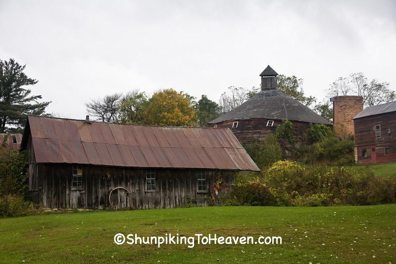 Round Barn Farm Scene, Winona County, Minnesota