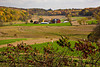 Farm in the Valley in Autumn, Sauk County, Wisconsin
