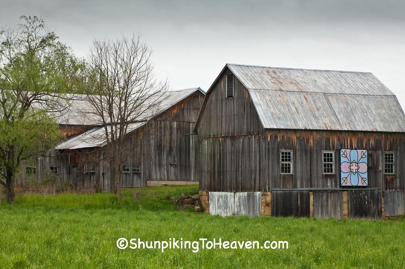 Quilt Barn Farm Scene, Athens County, Ohio