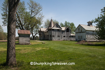 Farm with American Gothic Barn, Allen County, Ohio