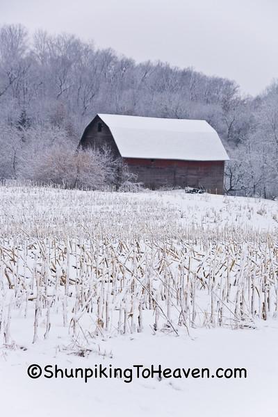 Snowy Farm Scene, Dane County, Wisconsin
