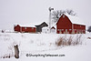 Winter Farm Scene, Dane County, Wisconsin