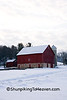 Red Barn in Winter, Sauk County, Wisconsin