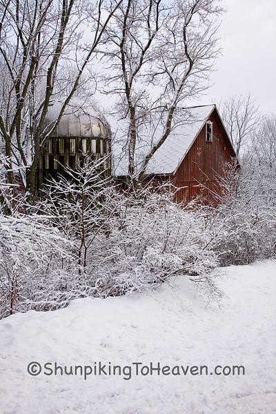 Wisconsin Winter Farm Scene, Dane County, Wisconsin