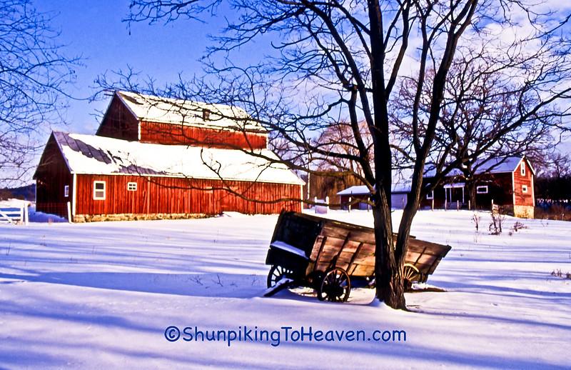 Winter Farm Scene, Columbia County, Wisconsin