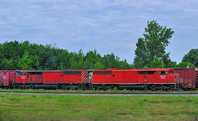 CMQ 9004 & 9023, Farnham Yard, Quebec July 12 2016.