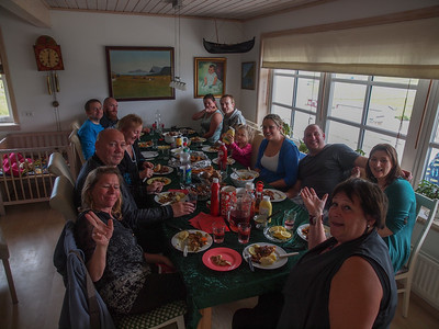 Vidoy with friends and family. Photo: Martin Bager