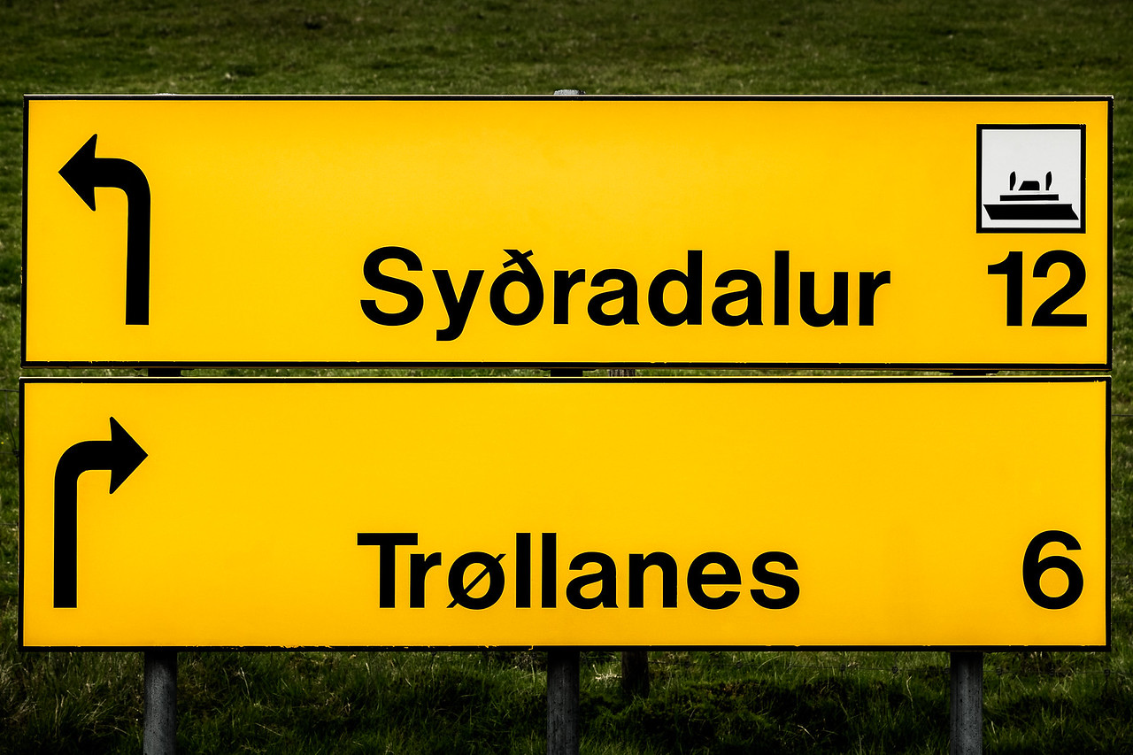 Faroe Island Sign